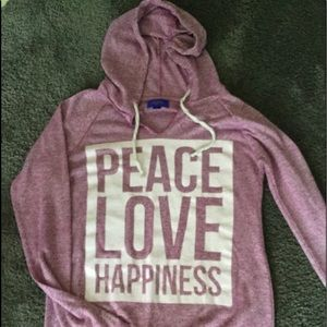 Long sleeved light weight hoodie